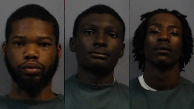 Left to right: Phillip Dominick, Garian Greenwood and Markevis Kinard. (Source: Newberry Co. Sheriff's Office)
