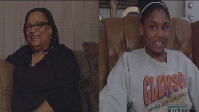 Marteillia Greenlee and her daughter, Chatoya Braddy. (Oct. 24, 2013/FOX Carolina)