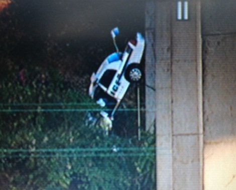 Asheville Police Officer Robert Bingaman died after his car went over the Jeff Bowen Bridge. (FOX Carolina)