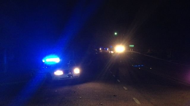 Spartanburg police had the road blocked near the crash Thursday night. (Oct. 31, 2013/FOX Carolina)
