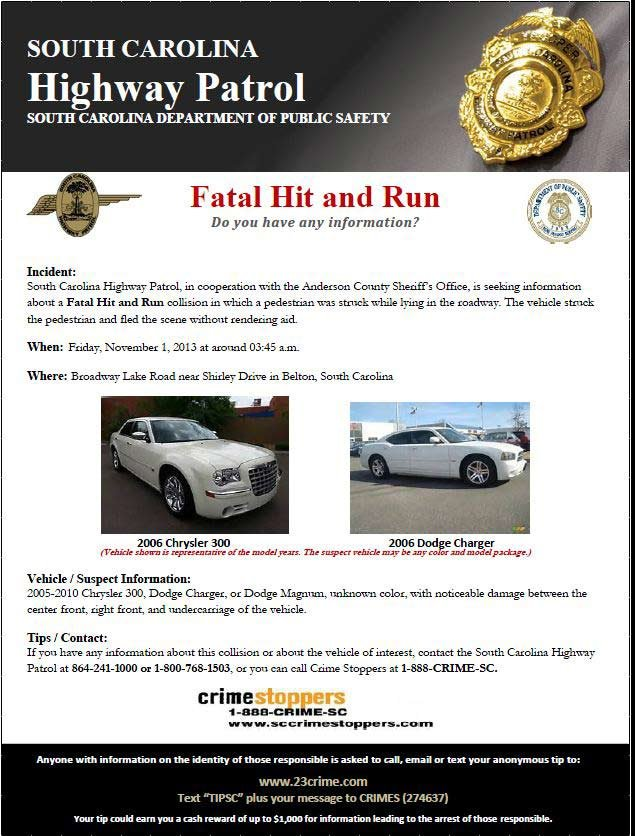 Troopers are looking for info about the fatal accident. (Nov. 1, 2013/FOX Carolina)