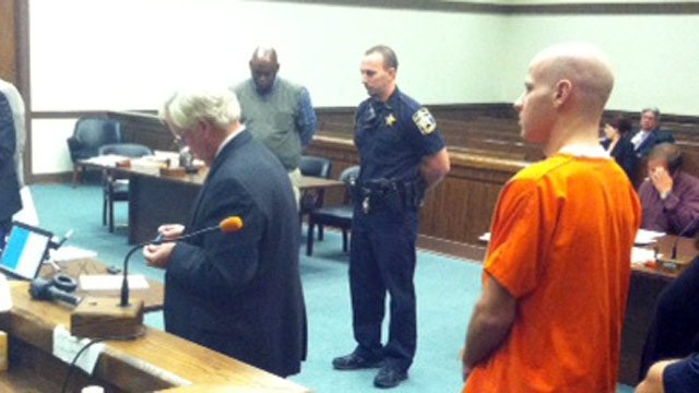 Darrell Raines Jr. appears in court on Monday. (Nov. 4, 2013/FOX Carolina)