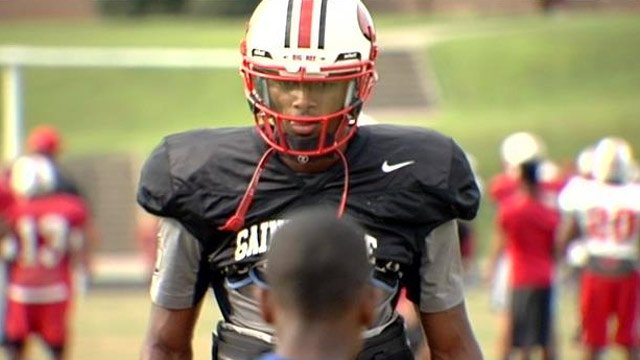 Clemson Univ. recruit Deshaun Watson at practice in Gainesville, GA. (File/FOX Carolina)