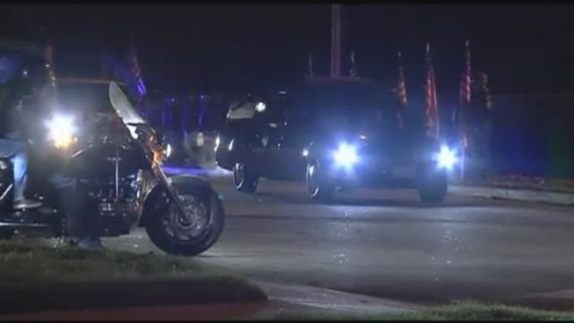 Shelton is honored with a procession from GSP. (Nov. 5, 2013/FOX Carolina)