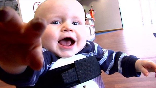 One-year-old Wyatt in his wheelchair smiling for the camera. (File/FOX Carolina)