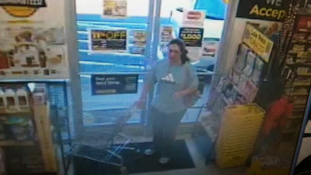 Deputies say this woman allegedly stole a wallet. (Source: McDowell Co. Sheriff's Office)