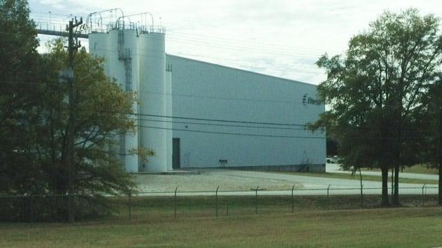 Fitesa is located along Southeast Main Street in Simpsonville. (Nov. 6, 2013/FOX Carolina)