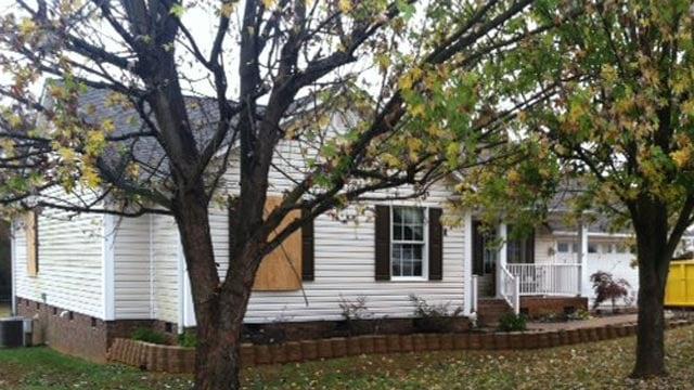 The Chesnee home that was set on fire. (Nov. 7, 2013/FOX Carolina)