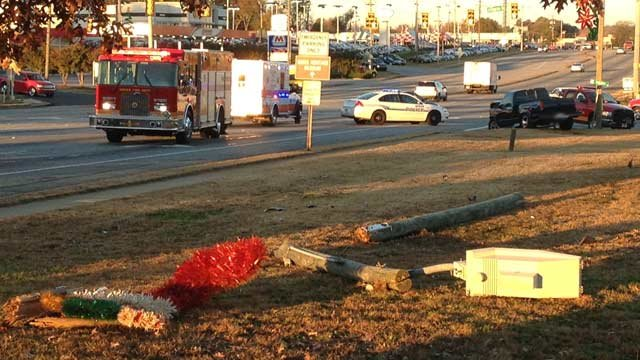 Firefighters have part of US 29 blocked at the scene of a fatal wreck. (Nov. 11, 2013/FOX Carolina)