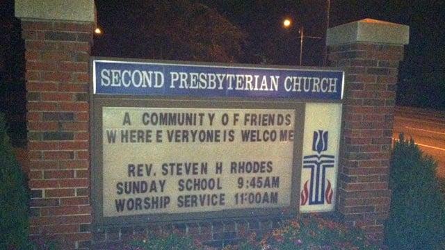Police say the robbery happened at  Second Presbyterian Church Monday night. (Nov. 11, 2013/FOX Carolina)