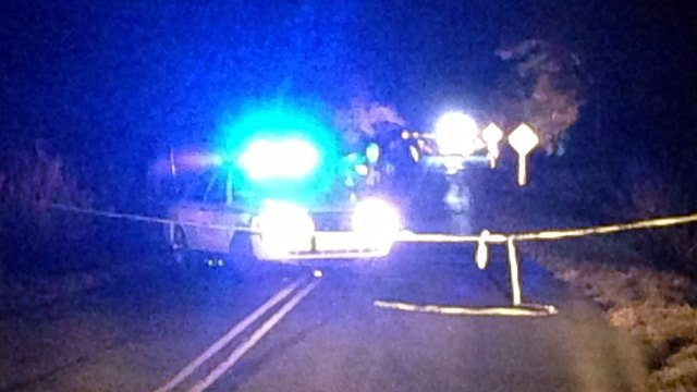 Deputies have Old Calhoun Falls Road blocked at the scene of the death investigation. (Nov. 12, 2013/FOX Carolina)