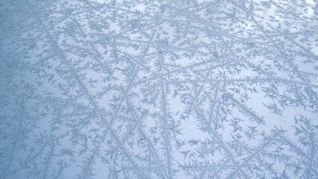 Frost on a Sylva driver's car. (Nov. 13, 2013/FOX Carolina iWitness Kathy W.)