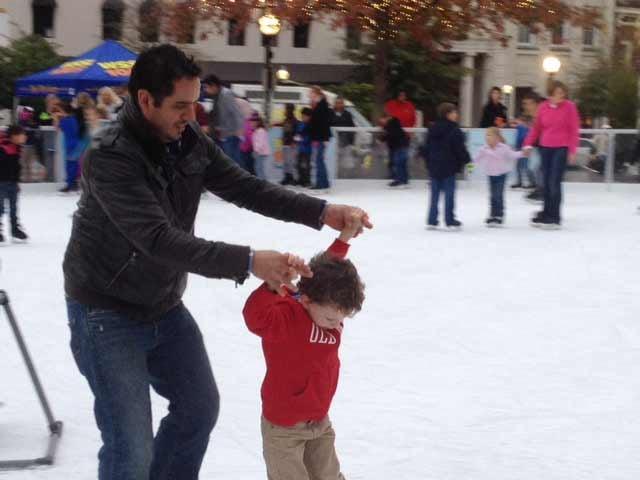 People skating at the opening on Friday. (Nov. 15, 2013/FOX Carolina)