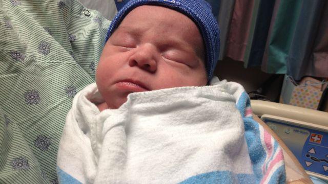 James Douglas Oliver born on 11/12/13 at Greenville Health System. (Nov. 12, 2013/FOX Carolina))