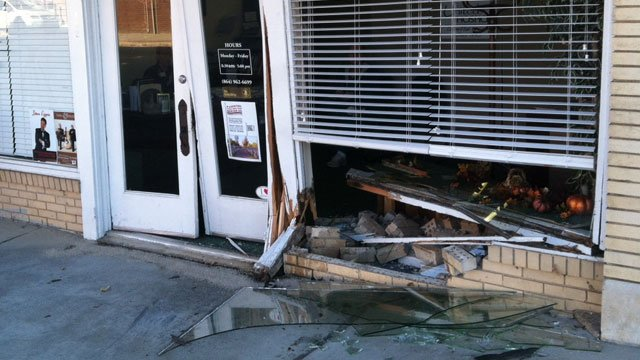 A photo of the office damage. (Nov. 14, 2013/FOX Carolina)