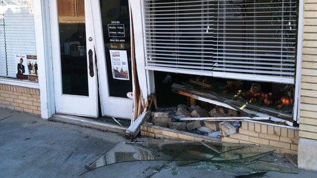 A photo of the office damage. (Nov. 14, 2013/FOX Carolina)