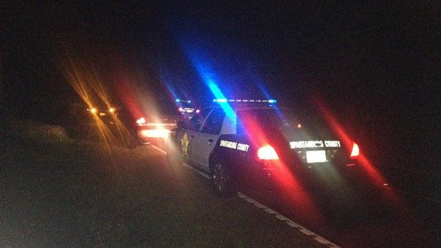 Officers at the scene of the stabbing. (Nov. 15, 2013/FOX Carolina)