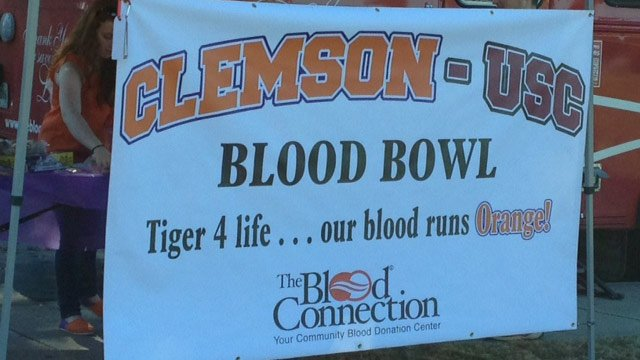 The blood drive is up and running in Clemson. (Nov. 18, 2013/FOX Carolina)