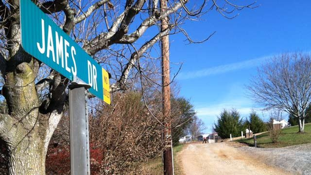 Deputies say the death investigation is at a home at the end of James Drive in Leicester. (Nov. 20, 2013/FOX Carolina)