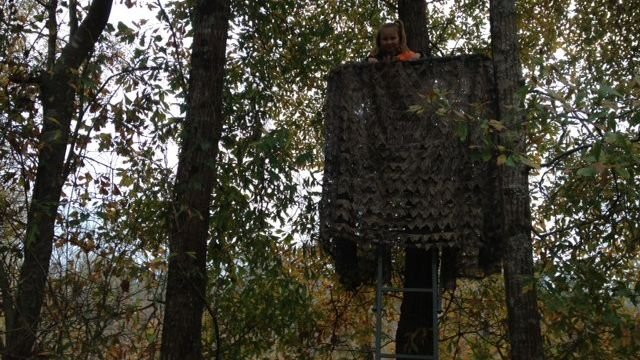 Autumn looks out from their deer stand. (Nov. 20, 2013/FOX Carolina)