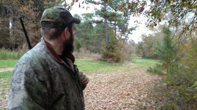 Chris Callaham on his property where he says wild hogs have become a problem. (Nov. 20, 2013/FOX Carolina)
