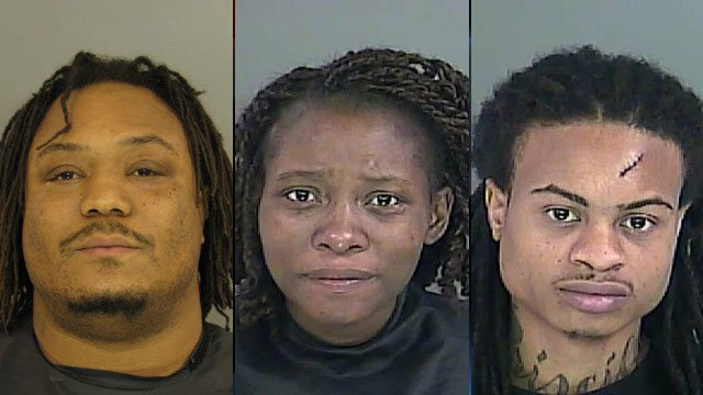 From left to right: Steven Hagood, Tereba Geer and Bradacious Galloway (Source: Anderson Co. Sheriff's Office)