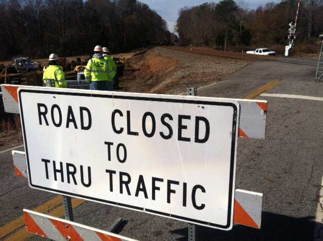Cedar Crest and Falling Creek roads remain closed. (Nov. 25, 2013/FOX Carolina)