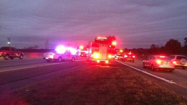 FOX Carolina at the scene of the accident on I85 south in Spartanburg (Nov. 25, 2013/FOX Carolina)