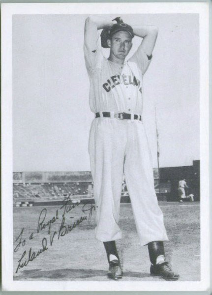 Lou Brissie when he pitched with the Cleveland Indians (Source: Dan Branyon)