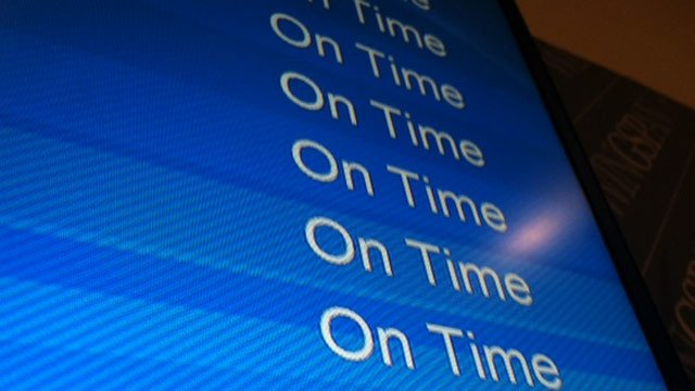 Flights are on-time so far at (Nov. 27, 2013/FOX Carolina)