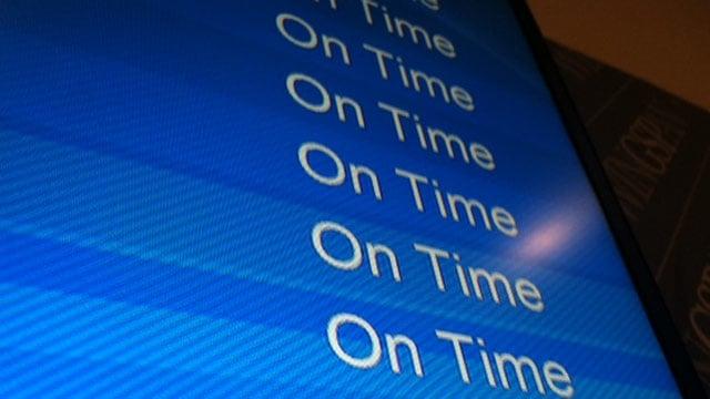 Flights are on-time so far at (Nov. 27, 2013/FOX Carolina)