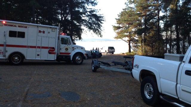 Emergency crews respond to the Asbury Park Boat Ramp. (Nov. 29, 2013/FOX Carolina)
