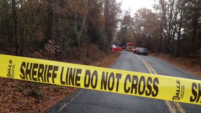 Emergency crews respond to a wreck along Old Pelzer Highway at McMahan Road, blocking it to through traffic. (Dec. 3, 2013/FOX Carolina)