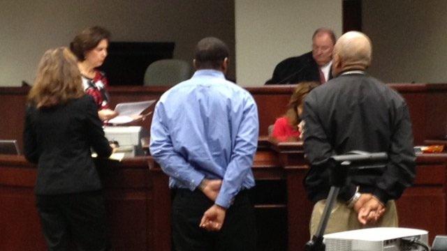 Garcia Wilson pleads guilty in court Tuesday. (Dec. 3, 2013/FOX Carolina)