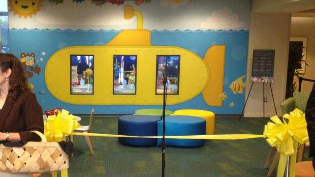 The new interactive wall at the children's hospital. (Dec. 3, 2013/FOX Carolina)