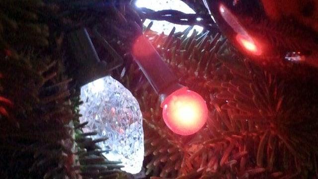Holiday lights on a Christmas tree. (File/FOX Carolina)