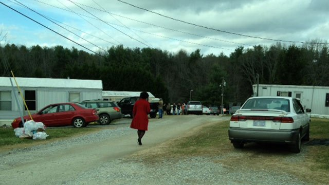 Deputies are investigating a 'suspicious' death at a mobile home on N. Holly Lane. (Dec. 4, 2013/FOX Carolina)