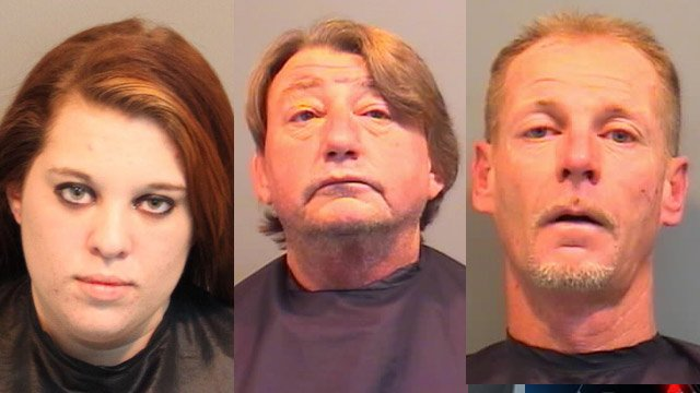 (from L to R) Felicia Parkins, Freddie Puckett and Jimmy Rhinehart (Source: Union Co. Sheriff's Office)