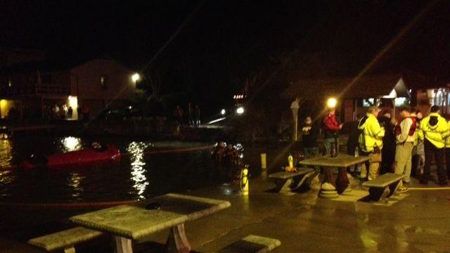 Unoccupied car submerged in lake (FOX Carolina)