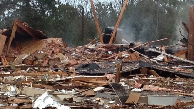 House destroyed in explosion (Fox Carolina)