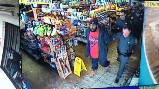 Surveillance video shows David Williams arrested by Greenville Co. deputies (Source: MM Mart)