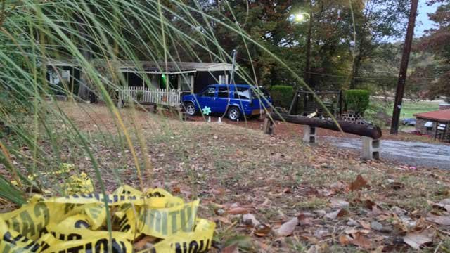 The scene of the shooting in Enoree. (Nov 1, 2013/FOX Carolina)