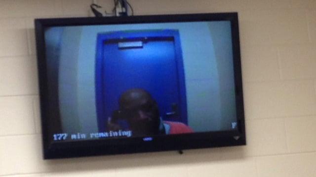 FOX Carolina photographers were in court for Walker's bon hearing on Thursday. (Dec.12, 2013/FOX Carolina)