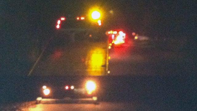 FOX Carolina crews at the scene said vehicles were towed away. (Dec. 11, 2013/FOX Carolina)