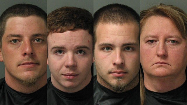 Andrew Carver, William Nelson, Austin Satterfield, Dolly Carver (Source: Oconee County Sheriff's Office)