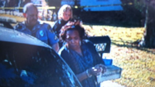 Mattie Brooks is taken into custody. (Dec. 19, 2013/FOX Carolina)