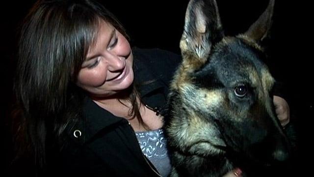 Natasha with her dog Galliana. (Dec. 19, 2013/FOX Carolina)