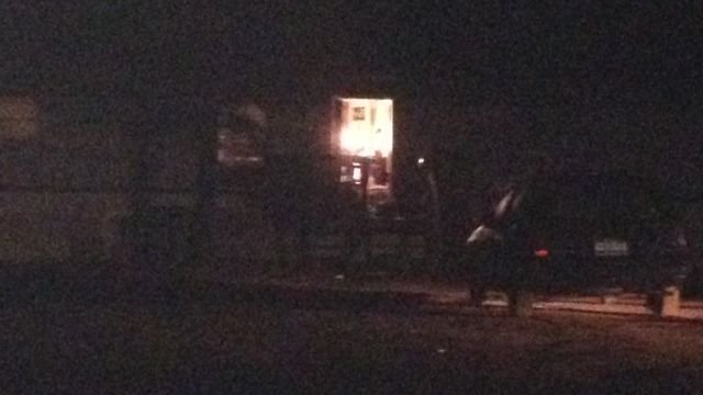 © Investigators on scene on Hanging Tree Road Sunday night. (Source: FOX Carolina/Dec.29, 2013)