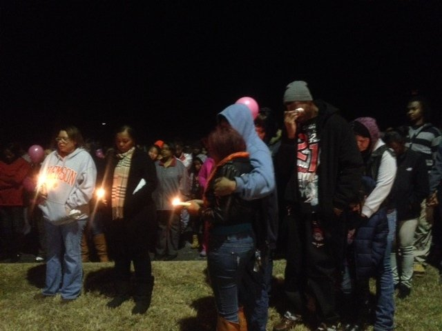A vigil was held for the victims of the wreck on Wednesday night. (Jan. 1, 2014/FOX Carolina)