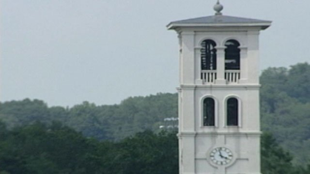 Furman University's iconic clock tower. (File/FOX Carolina)
